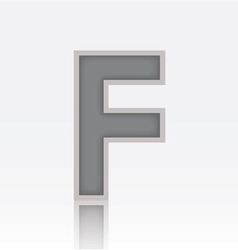 Alphabet F vector image vector image