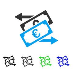 Banknotes exchange flat icon vector