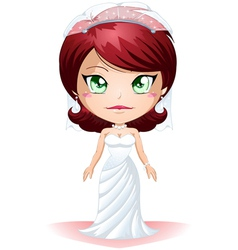 Bride Dressed For Her Wedding Day 2 vector image