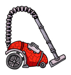 Cartoon image of vacuum cleaner vector