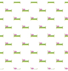 Children bed pattern cartoon style vector image