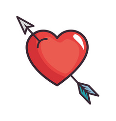 Cute arrow heart vector
