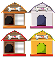 different designs of doghouses vector image vector image
