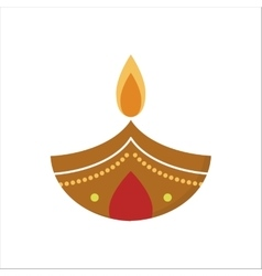 diwali candle vector image vector image