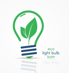 eco light bulb idea icon with leaves inside vector image vector image