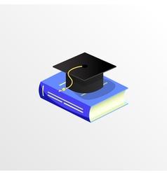 education academic graduation cap and book vector image
