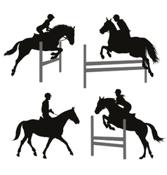 Equestrian sports set 2 vector image