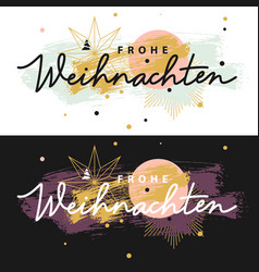 frohe weihnachten christmas cards vector image vector image
