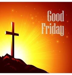 Good friday with the image of vector