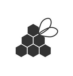 Icon honey bee vector