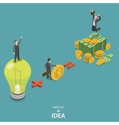 Investing into idea isometric flat concept vector image vector image
