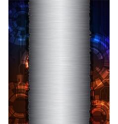 metal banner vector image vector image