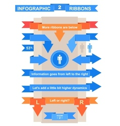 Nice ribbon set for infographic title vector image
