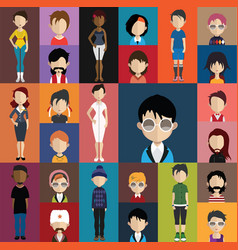 people avatar with full body and torso variations vector image vector image