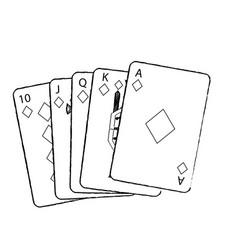 Royal flush playing cards poker casino vector