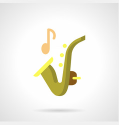 Sax music flat color icon vector