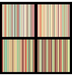 Set of striped seamless patterns vector image vector image