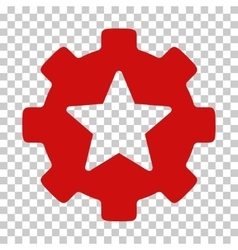 Star favorites options gear icon vector