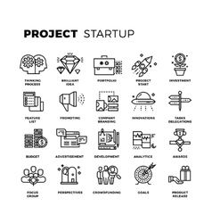 Startup launch business workflow new product vector image