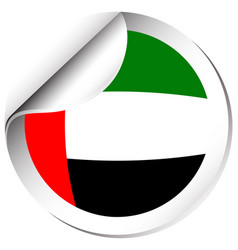 Sticker design for flag of arab emirates vector