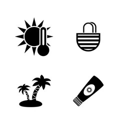 sunbathe simple related icons vector image vector image