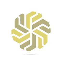 Symbol hexa connecting icon ele vector