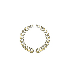 triumph wreath computer symbol vector image