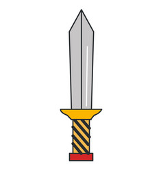 warrior sword isolated icon vector image vector image