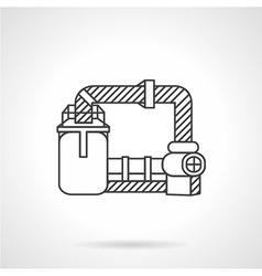 Wastewater treatment line icon vector