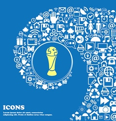 World cup sign icon nice set of beautiful icons vector