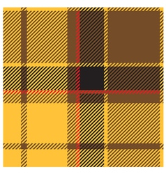 Yellow Tartan Cloth Pattern vector image vector image