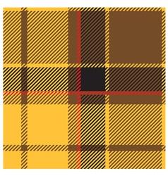 Yellow Tartan Cloth Pattern vector image