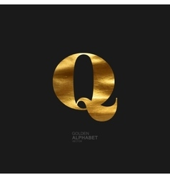 Golden letter q vector