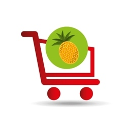 Carry buying pineapple fruit icon graphic vector
