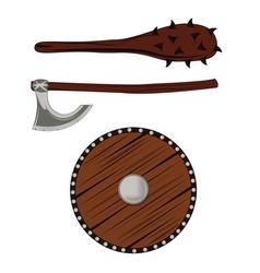 Viking warrior skull vector image