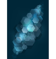 Blue mesh background with silver rhomb vector