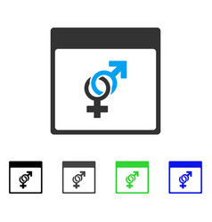 Marriage calendar page flat icon vector