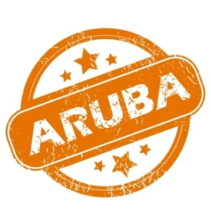 Aruba grunge icon vector