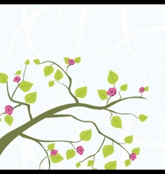 spring branch vector image