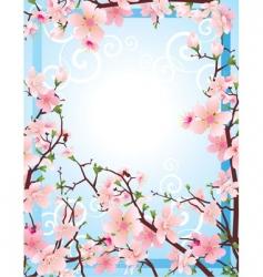 Sakura frame vector image