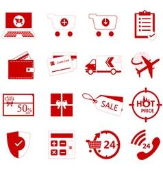 Shoping icon vector
