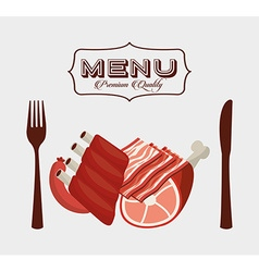 Meat menu vector
