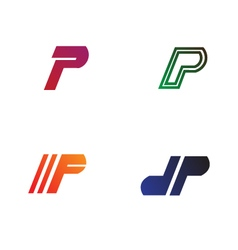 Logo templates for letter p vector
