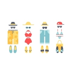 Beach swimwear clothing vector