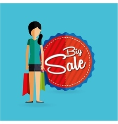 People shopping design vector