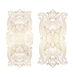 Elegant floral ornament golden decor on light vector