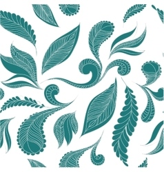 Doodle seamless pattern feathers vector