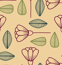 Abstract seamless pattern with floral elements vector image vector image