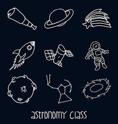Astronomy class vector