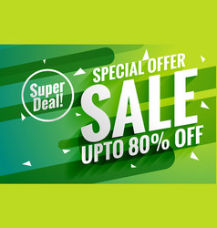 Awesome green sale banner voucher for marketing vector